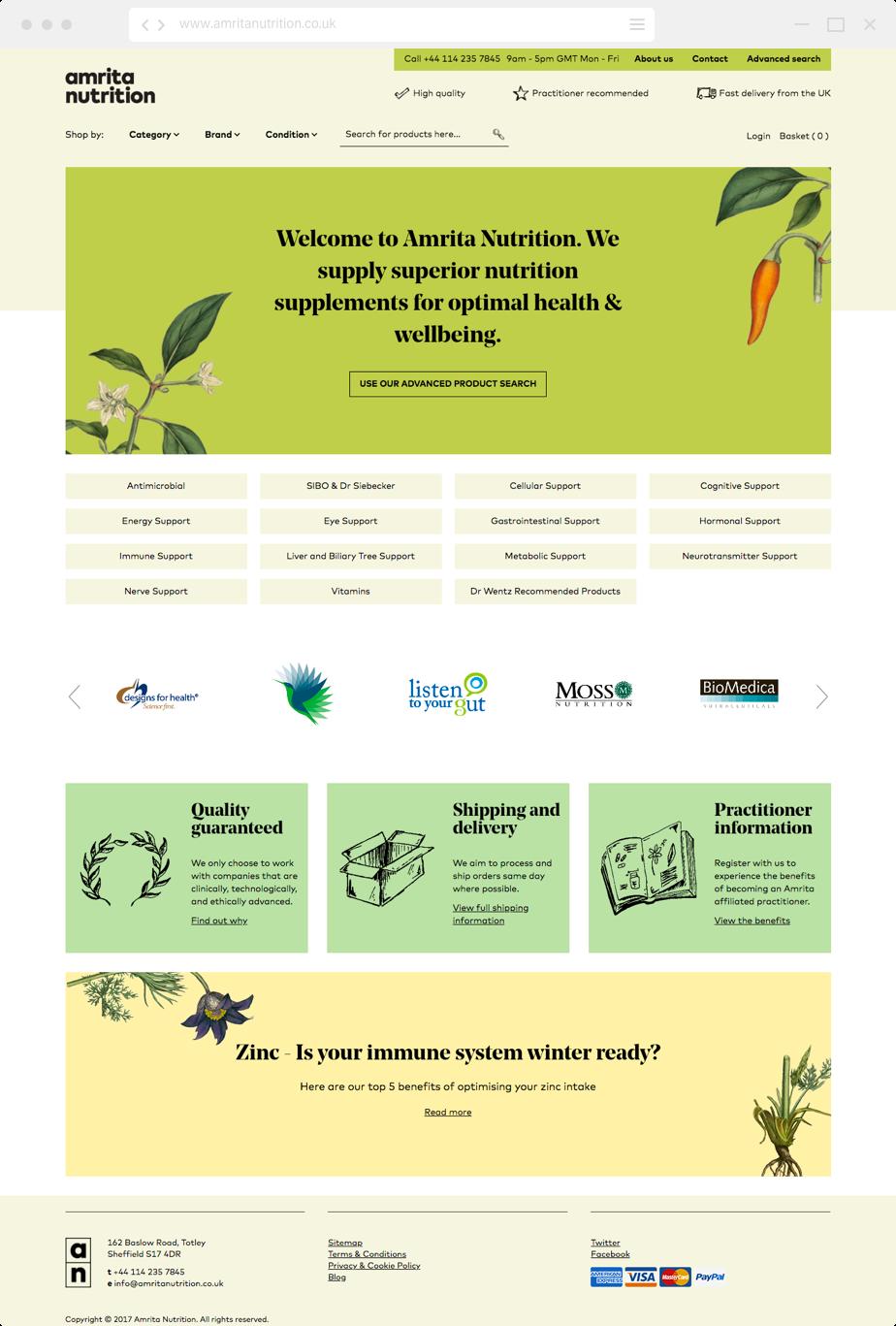 Amrita home page
