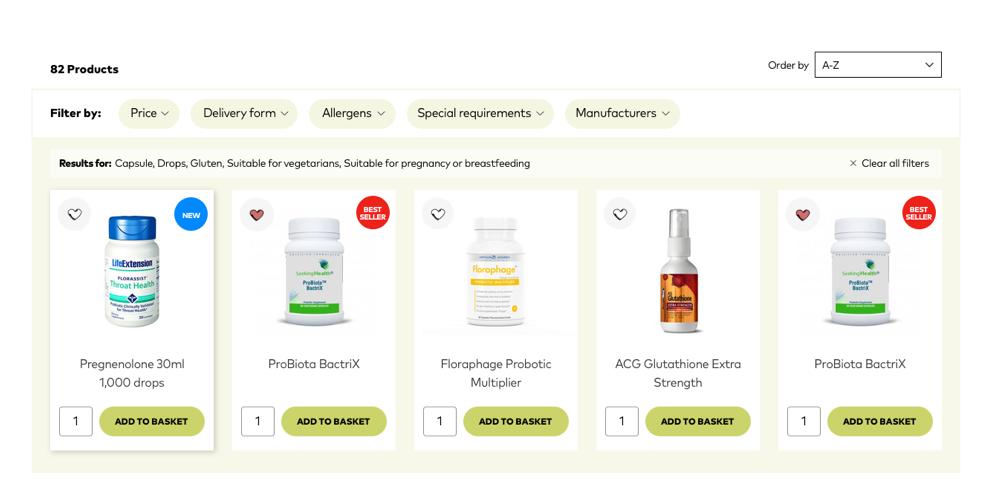 Amrita products list