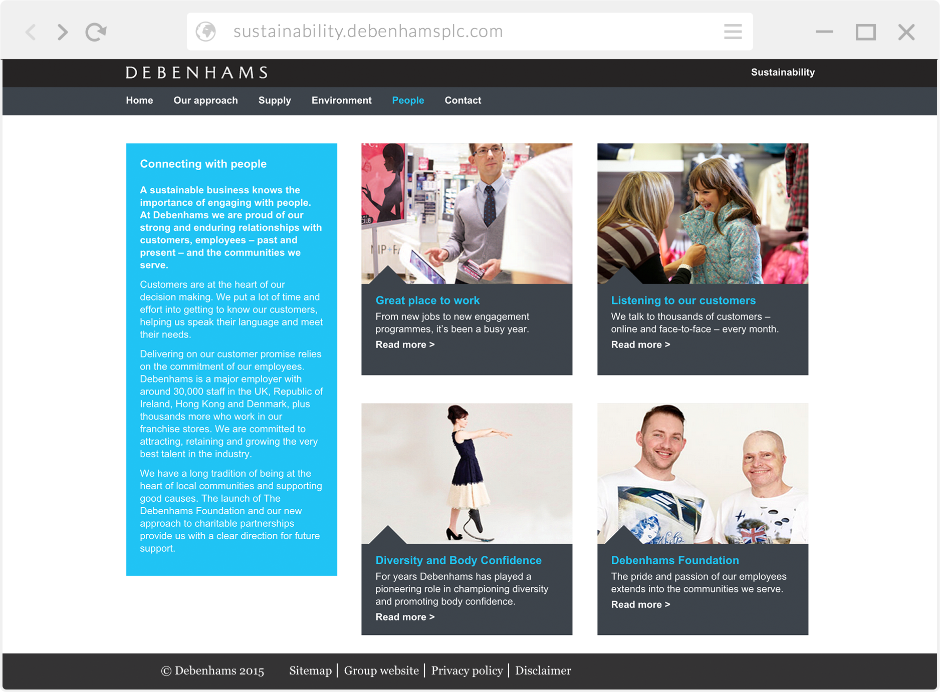 Debenham's website build