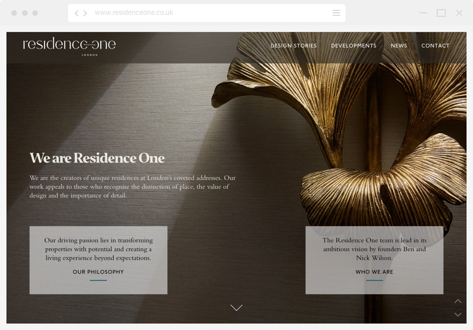 Residence One home page