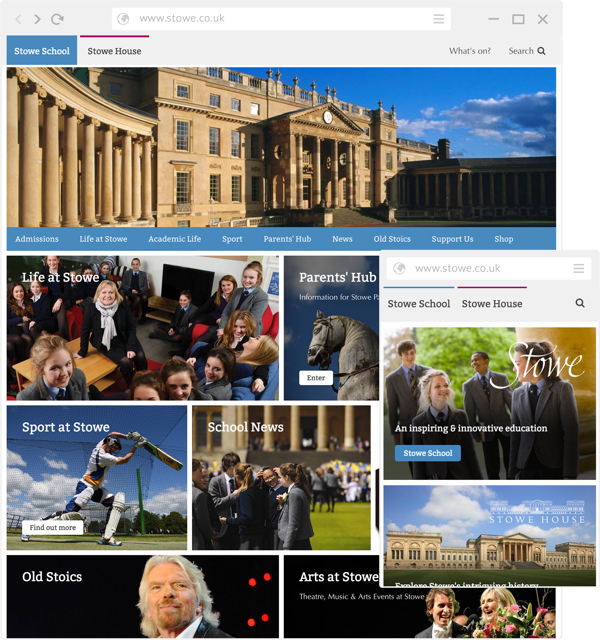 Stowe Website