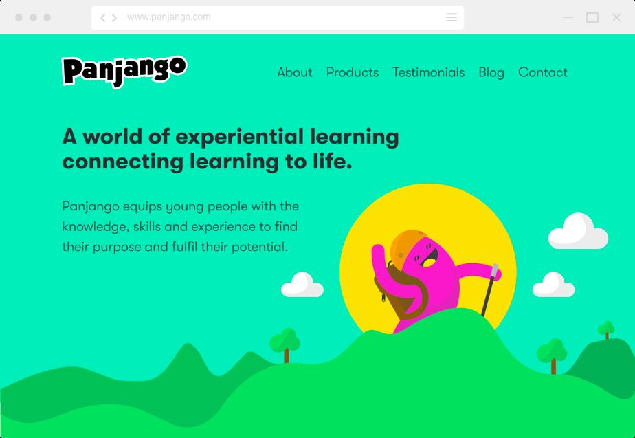 Panjango home page